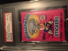 1985 GARBAGE PAIL KIDS FIRST SERIES .25 PACK PSA 8 PLUS FULL BOX 2-15 BBCE SEAL