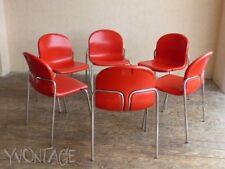 Wilkhahn Stapelstuhl Stapelstühle rot Kunststoff Plastik Stuhl 70er