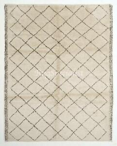 Contemporary Moroccan Azilal Rug, 100% Wool Carpet