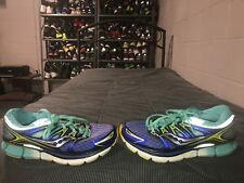 Saucony Triumph ISO Womens Running Training Shoes Size 9 Blue Neon Green Gray