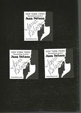 JANA DELEON,  AUTHENTIC HAND SIGNED BOOKPLATE SET  Of 3