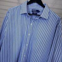 Polo Ralph Lauren Regent Classic Fit L/S Dress Shirt Cotton Men's 19 38/39 TALL