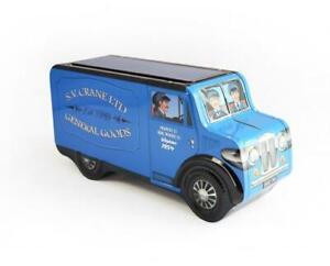 """Tin Bread Box Storage Box """" Blue Van """", 32 CM Jewelry Box, New"""