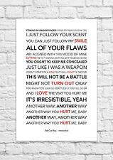 Fall Out Boy - Irresistible - Song Lyric Art Poster - A4 Size