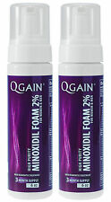 2 X QGAIN MINOXIDIL FOAM 2% 6 Months Supply For Women & Men FREE SHIPPING