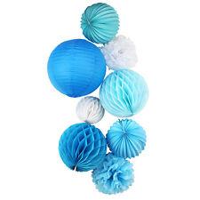 8pcs/set Lanterns Honeycomb Balls Pom Poms Paper Decorations Wedding Venue Party