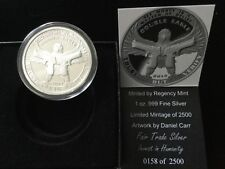 2014 Fair Trade .999 fine Silver Proof like Round, Double Eagle, only 2500 made.