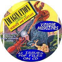 IMAGINATION SCIENCE FICTION MAGAZINE / COMIC BOOKS - 61 ISSUES - PDF FILES - CD