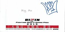 King Mo Lawal Signed 15 Rizin FF Grand Prix Ticket Envelope PSA/DNA Bellator MMA