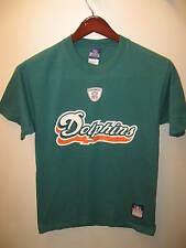 Miami Dolphins Football Team Nfl Reebok Turquoise Orange Cotton T Shirt Nwot Sm