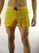 Oneill Vintage Board Surf Swim Shorts, Nylon Yellow  Size 9  MAR40