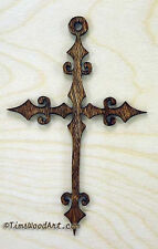Passion Cross, Handmade Baltic Birch Cross, Wall Hanging or Ornament, Item S1-12