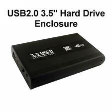 """3.5"""" Hard Drive SATA USB2.0 Caddy Enclosure Aluminum Casing Desktop HDD SSHD"""