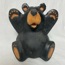 "Big Sky Carvers 10"" Conner Jeff Fleming Black Bear Solid Western Pine Carved"