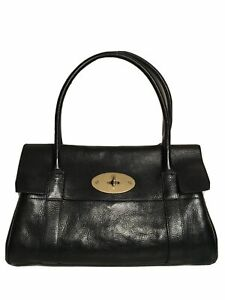 Mulberry Black Leather Bayswater East West Handbag