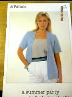 Patons Knitting Pattern Ladies  Dress Cardigan Jumpers No. 676