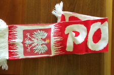 POLSKA Football? SCARF Red & White 7 by 54 +/- inches free USA shipping