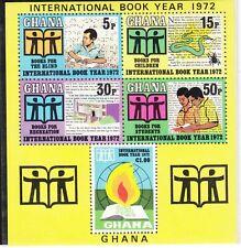 New listing Ghana Sc 449a Nh Souvenir Sheet of 1972 - Book Year. Sc$10