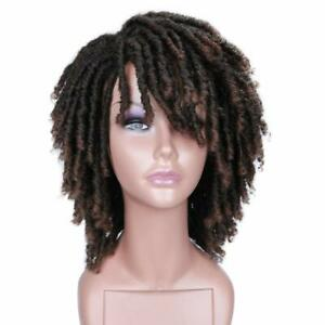 Dreadlock Wig Short Twist Wigs for Black Women and Men Afro Curly Synthetic Wig