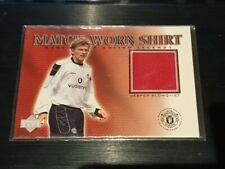 2002 Upper Deck Manchester United Legends Jesper Blomqvist Game Worn Shirt