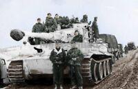 WW2 Picture Photo Tiger I in winter cammo Panzer Ace Otto Carius commander 1536