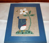 BENT CREEK COMPLETED CROSS STITCH PICTURE BLUEBIRD EAST SIDE MOULDINGS