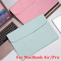 Laptop Bag Leather Sleeve Case Cover For MacBook Air Pro Retina 11 12 13 15