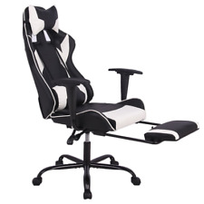 BestOffice FDW-HL-OC468-White Ergonomic Racing Style Adjustable Office Gaming Ch