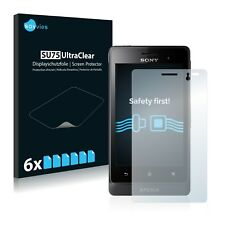 6x Savvies Screen Protector for Sony Xperia Go ST27i Ultra Clear