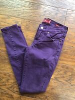 "Lucky Brand Charlie Women's SZ 00/24 29"" Inseam Purple Super Skinny Denim Jeans"