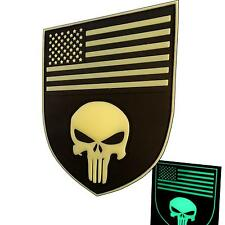 punisher skull shield american flag PVC 3D rubber parche patch VELCRO® brand