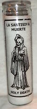 "Santa Muerte - Holy Death 8"" Glass Wax Candles From Mexico"