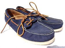 Ralph Lauren Polo Blue Suede Moccasins Boat Deck Shoes Bienne 11-LU-BTS 8 - 42