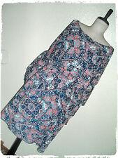 Paper Plane Bohemian BohoFloral Tile Scarf Print Bell Sleeve Blouson Dress 1X
