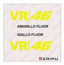 X2 DECAL ROSSI VR-46  VINILO RECORTE STICKER DECAL  PEGATINA MOTO GP. ENDURO