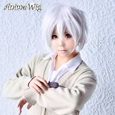 Future City NO.6 Shion White Short 30CM Layered Cosplay Anime Wig + Wig Cap