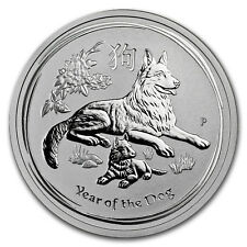 2018 Australia 1/2 oz Silver Lunar Dog BU
