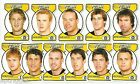 2005 Select Dynasty Footy Faces Die Cuts RICHMOND Team Set