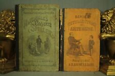 antique old school books Martindale's complete Speller Davies Mcguffey's reader
