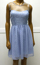 Rodarte for Target Blue Swiss Dot Lace Net Dress Sz 11