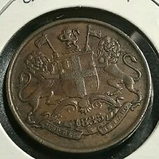 1835 BRITISH INDIA EAST INDIA COMPANY 1/4 ANNA NICE COIN