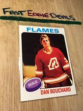 TOPPS HOCKEY 1975 DAN BOUCHARD GOALIE CARD 268 ATLANTA FLAMES EXCELLENT