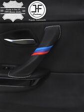 WHITE STITCH M STRIPE PASSENGER DOOR HANDLE LTHR COVER FITS BMW E90 E91 E92 E93