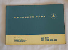 Mercedes owners manual Ac system 220 220D 230 250 /8
