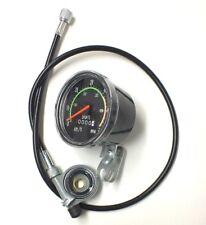 Tachometer Analog Geschwindigkeitsmesser mit Kilometerzähler Fahrrad Retro-Look