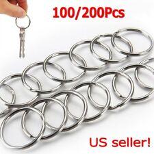 200Pcs Key Rings Chains Split Ring Hoop Metal Loop Steel Accessories 25mm USA