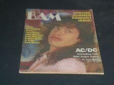 1985 JULY 26 BAM MAGAZINE ISSUE NO. 211 - AC/DC'S ANGUS YOUNG COVER - SP 2881