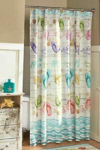 FLIP FLOP Shower Curtain or Valance Summer Beach Sandal Bath Decor