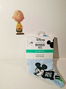 Bonds Disney Pets Dog Bandana Mickey Blue Bib Gift Size S-M, M-L Limited Edition
