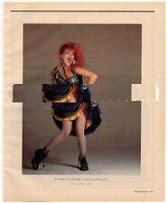 Cyndi Lauper Magazine Photo 1984